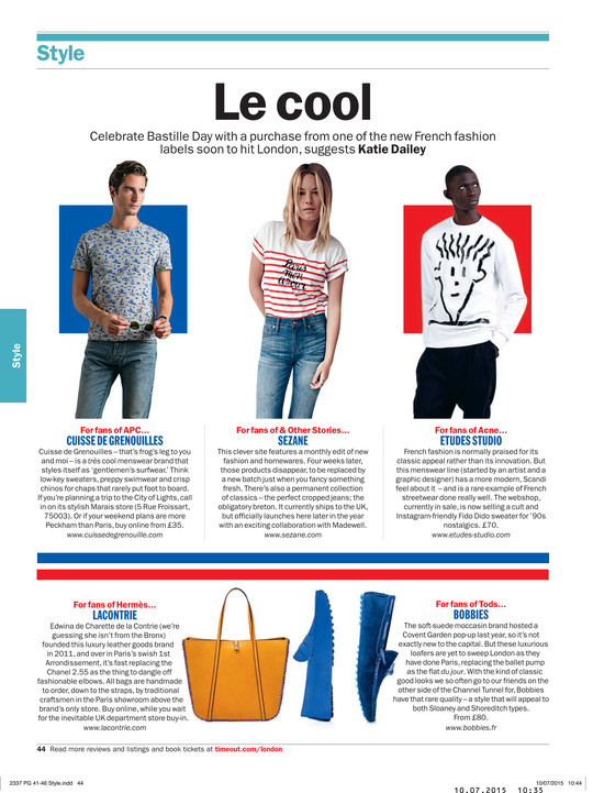 Time Out, juillet 2015